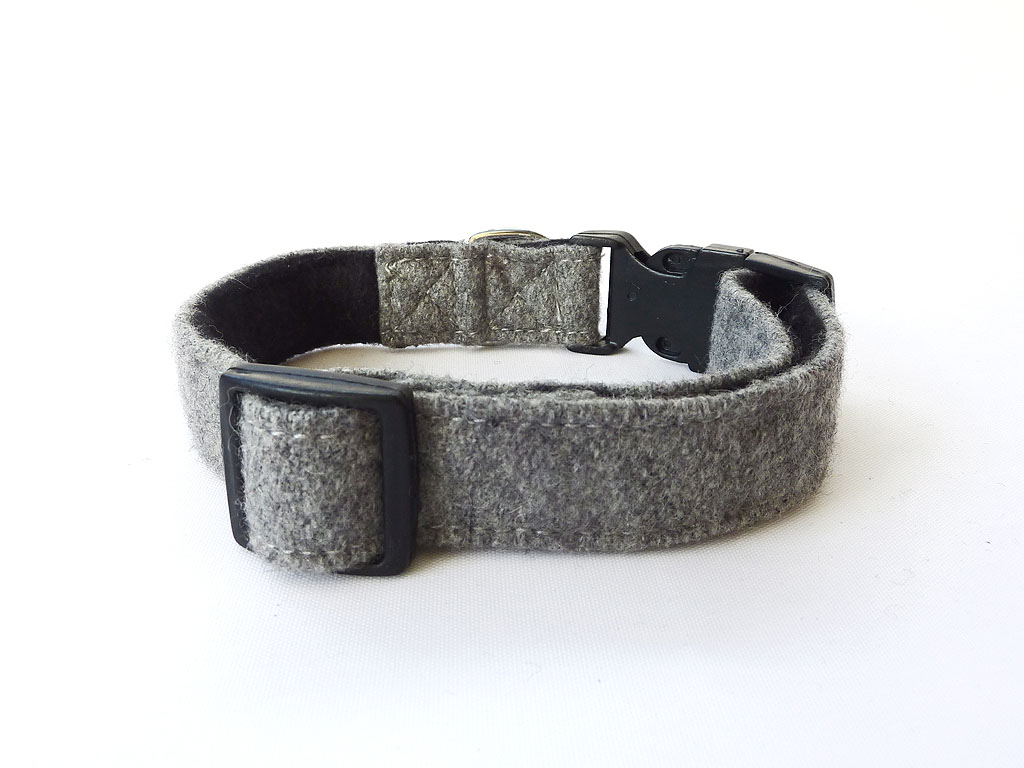 Wool Collar for Cats Grey